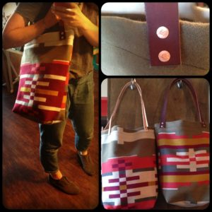 pendleton tote collage